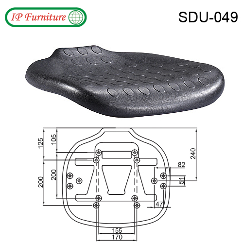 Seat shell for office chairs SDU-049